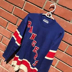sale retailer 815f6 6d579 Vtg New York Rangers Gerry Crosby NHL Jersey
